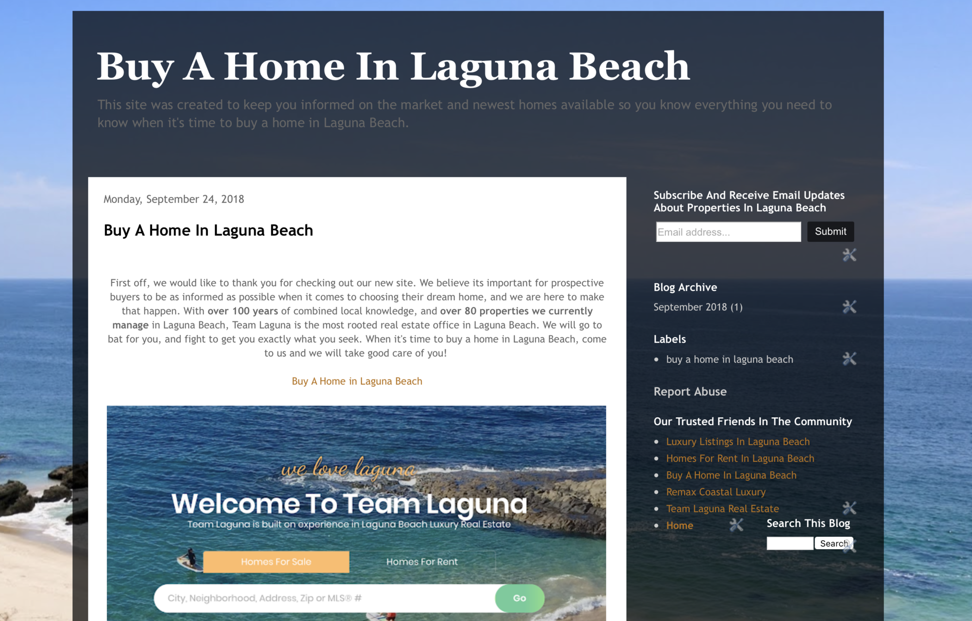 buy a home in laguna beach